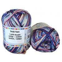 Sock Yarn - Acryl - 100g - Sonderposten - Farbe S113