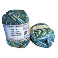 Sock Yarn - Acryl - 100g - Sonderposten - Farbe S118