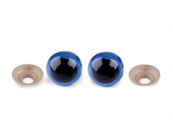 Sicherheitsaugen blau rund 14mm - 1 Paar
