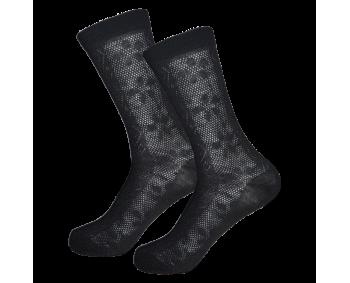 1 Paar dünne Damen Socken - Schwarz - Spitze