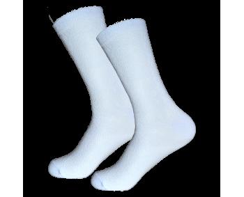 1 Paar dünne Damen Socken - Weiss - Spitze
