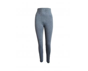 Damenleggins - hoher Bund - Einheitsgröße - Grau