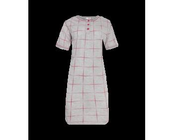 """Nachthemd - Sleepshirt - BigShirt """"KARO"""" - Farbe Grau/Beere"""