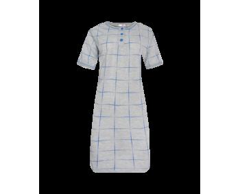 """Nachthemd - Sleepshirt - BigShirt """"KARO"""" - Farbe Grau/Blau"""