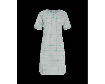"Nachthemd - Sleepshirt - BigShirt ""KARO"" - Farbe Grau/Grün"