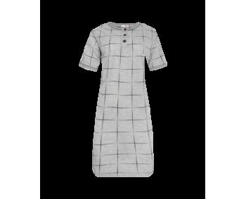 "Nachthemd - Sleepshirt - BigShirt ""KARO"" - Farbe Grau/Schwarz"