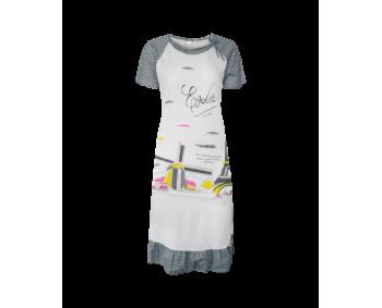 "Nachthemd - Sleepshirt - BigShirt ""MÜHLE"" - Farbe Weiss/Grau"