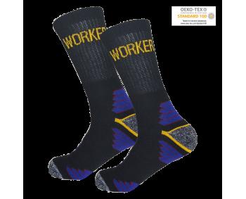 1 Paar Arbeitssocken - schwarz/blau - WORKER - NEU mit Etikett
