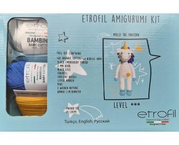 Etrofil Amigurumi Kit - Molly the Unicorn - Einhorn