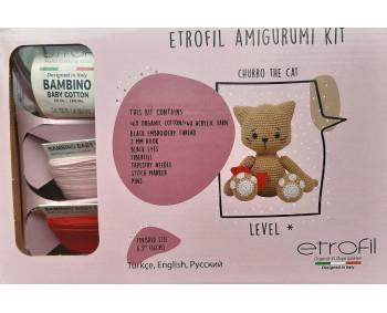 Etrofil Amigurumi Kit - Churro the Cat - Katze