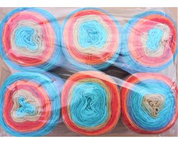 6er Pack Mandala Sonderposten - 6x150g Cake - Farbe 03