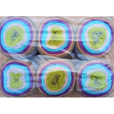 6er Pack Mandala Sonderposten - 6x150g Cake - Farbe 04