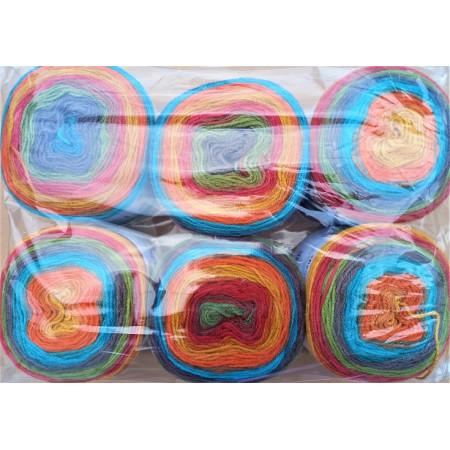 6er Pack Mandala Sonderposten - 6x150g Cake - Farbe 06