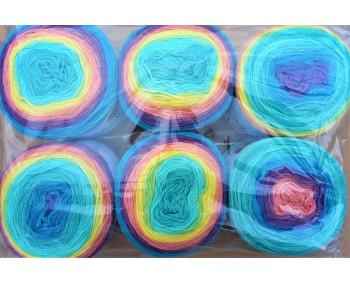 6er Pack Mandala Sonderposten - 6x150g Cake - Farbe 08