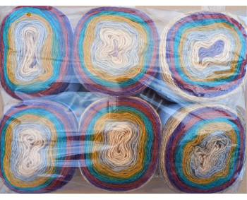 6er Pack Mandala Sonderposten - 6x150g Cake - Farbe 11