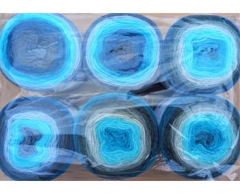 6er Pack Mandala Sonderposten - 6x150g Cake - Farbe 12