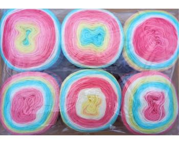 6er Pack Mandala Sonderposten - 6x150g Cake - Farbe 13