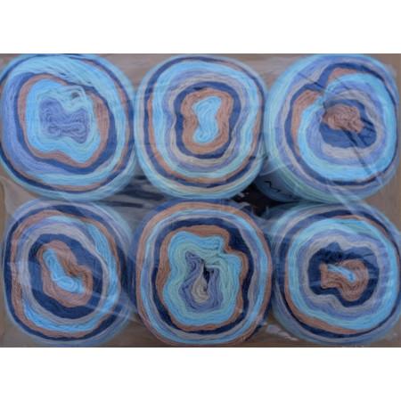 6er Pack Mandala Sonderposten - 6x150g Cake - Farbe 18