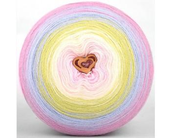 Wolle1000 - Trend Acrylic - Farbe 1010 (Babyrosa-Vanille-Grün-Hellblau-Rosa) 2000m Bobbel