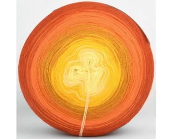 Wolle1000 - Trend Acrylic - Farbe 1031 (Vanille-Gelb-Senf-Orange-Rost) 2000m Bobbel