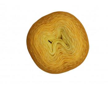 Wolle1000 - Trend Cotton - Farbe 310 (Lemon-Gelb-Senf) 1000m Bobbel