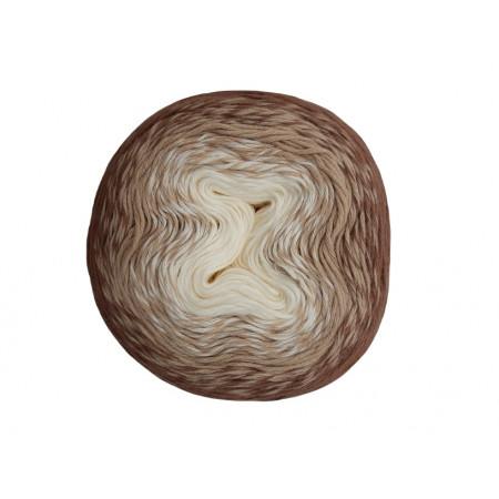 Wolle1000 - Trend Cotton - Farbe 318 (Creme-Beige-Braun) 1000m Bobbel
