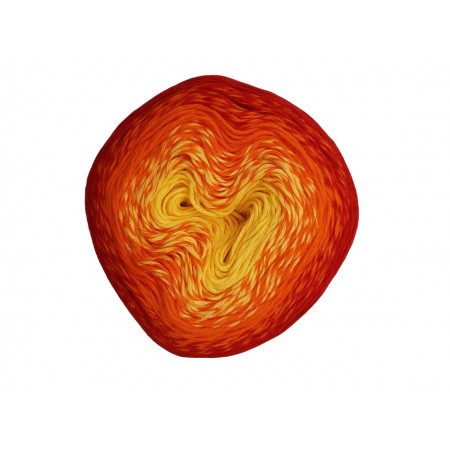 Wolle1000 - Trend Cotton - Farbe 412 (Gelb-Orange-Rot) 1000m Bobbel