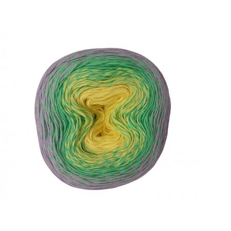 Wolle1000 - Trend Cotton - Farbe 452 (Lemon-Mint-Lavendel) 1000m Bobbel