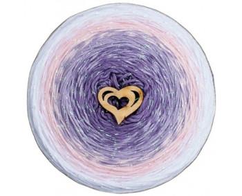 Wolle1000 - Trend CottonLUX - Farbe 8505 (Lila-Flieder-Rosa-Weiss) 900m Bobbel mit Glitzer