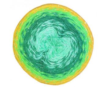 Wolle1000 - Trend CottonLUX - Farbe 8575 (Minze-Dunkelgrün-Grün-Senf) 900m Bobbel mit Glitzer