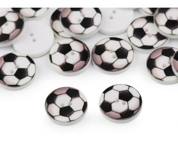 Kinderknopf - Fussball - 5 Stück  (0,24€/Stk.)